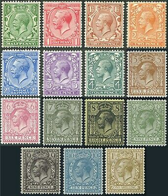 1912-22 Royal Cypher Sg 351-396 Very Fine Used/Fine Used Single Stamps