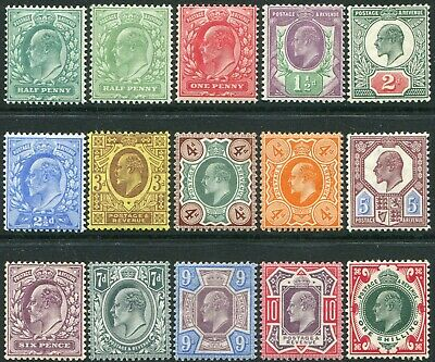 1902-1910 Sg 215-Sg 259 De La Rue Average Mounted Mint Condition Single Stamps