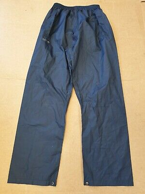Dd105 Mens Regatta Blue Waterproof Hiking Walking Pullover Trousers Uk M W33 L30