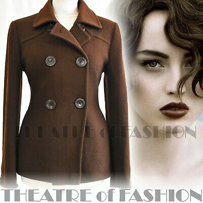 JACKET COAT VINTAGE WOOL RIDING 40s S 6 8 VICTORIAN LAURA ASHLEY MISTRESS