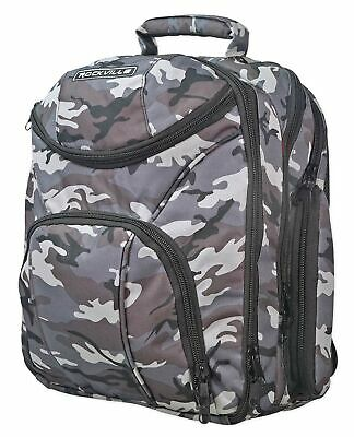 Rockville Travel Case Camo Backpack Bag For Mackie 1402VLZ4 Mixer