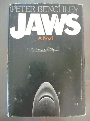 JAWS by PETER BENCHLEY 1974 1ST EDITION BCE HC w/ JACKET HORROR NOVEL w/ INSERT!