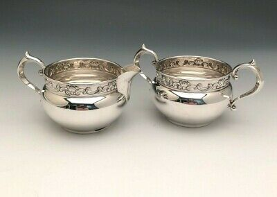 Strasbourg by Gorham  Sterling Silver Creamer and Sugar Bowl #1133