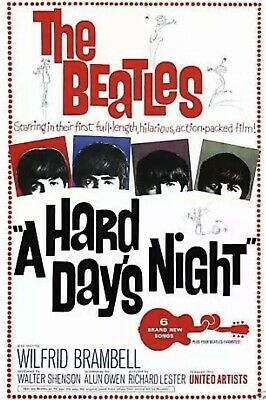 The Beatles *A Hard Days Night* USA Movie Poster 1964 24x36 Sealed