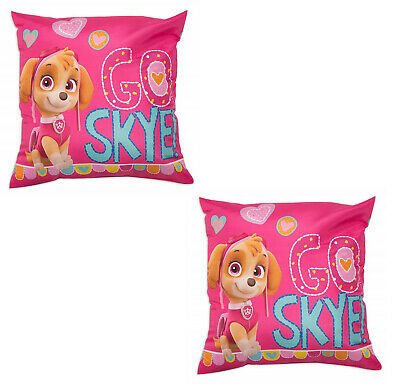 Two Paw Patrol Cushions Featuring Skye, Everest and Marshall Cool Pups