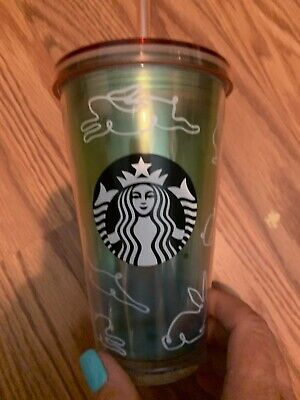 Starbucks Grande Easter Bunny Cold Cup Limited Edition 16oz 2019 NWT