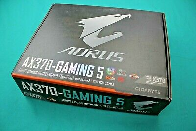 GIGABYTE GA-AX370-GAMING K7 Motherboard CPU AM4 AMD Ryzen DDR4 USB