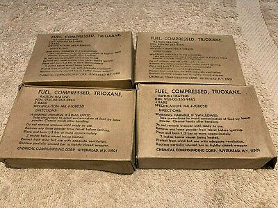 Military Trioxane Compressed Fuel Fire Starter - 4 boxes (12 bars) MIL-F-10805D