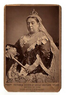 CAB photo VICTORIA, QUEEN of GREAT BRITAIN Empress of India 1837-1887 Jubilee UK
