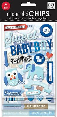Me & My Big Ideas Chipboard Value Pack-Sweet Baby Boy, Multi-Colour