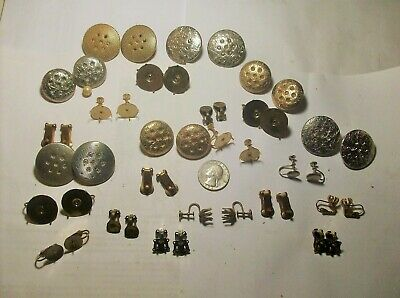 COLLECTION ASSORTED EARRING FINDINGS--------1940,s----------VINTAGE