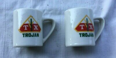 Advertising Salt & Pepper Set TROJAN SEED CORN Warco Line