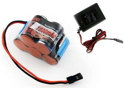 Tenergy 5 Cell 6V 1600mAh NiMH Hump Receiver Battery Pack w Charger Savage X 4.6