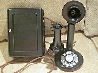 Western Electric Dial Candlestick Telephone e/w Metal Subset