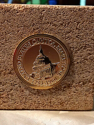 United States Capitol Sandstone 1793-1960 Paperweight