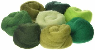 Wistyria Editions 12-inch 0.25 oz Jungle Wool Roving, Pack of 8