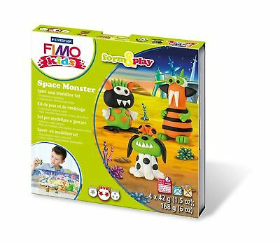 """Rayher 34418000 Fimo kids Form&Play """"Space Monster"""", 4 x 42 g, tab-box"""