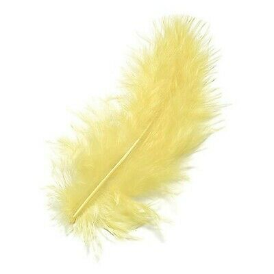 100pcs Fluffy Marabou Feathers Party Wedding Trimming DIY 8-15 cm White T8J3