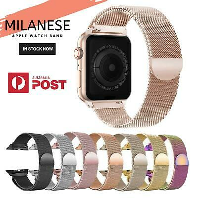 Apple Watch Series 4 3 2 1 Milanese Magnetic Stainless Steel Strap iWatch Band