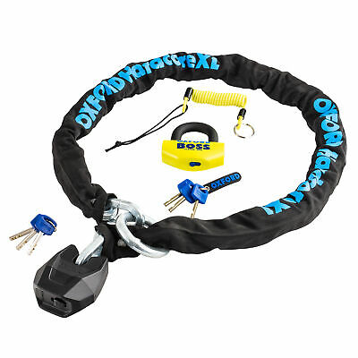 Oxford Security Pack 4 - 1.5m Hardcore XL Chain And Boss 14mm Disc Lock