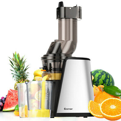 Cold Press Slow Juicer Whole Fruit Vegetable Stainless Steel Processor Mixer