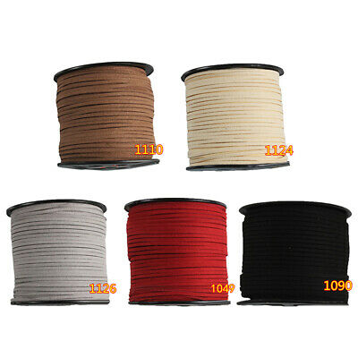 90 Meters Faux Suede Leather Rope Cord Korean Velvet Beads  Jewellery Making