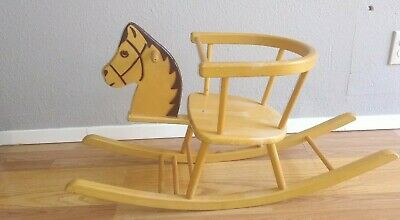 HERLAG Vintage Rocking Horse German Wooden Child
