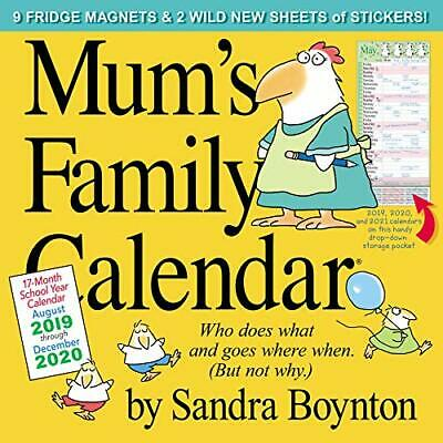 Mum'S Family Calendar by Sandra Boynton 2020 Square Family Organiser NEW