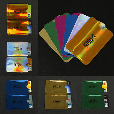 10pcs Credit Card Protector Secure Sleeve Holder RFID Blocking ID Shield Cover
