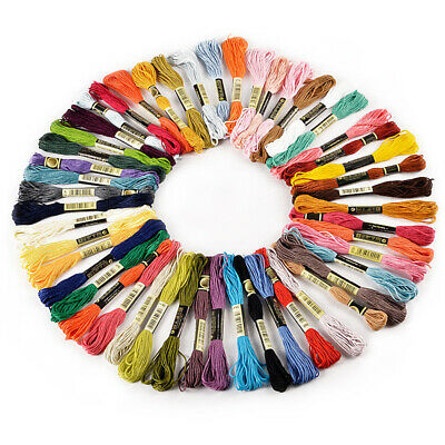 50 Anchor Cross Stitch Cotton Embroidery Thread Floss / Skeins ASSORTED COLOR