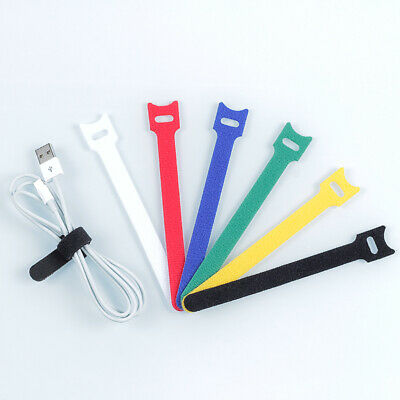 Hook & Loop Cable Tie 12mm width x 150, 180, 200, 300mm Length Red Green Blue