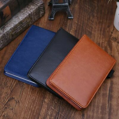 Pocket Planner A7 Notebook Small Notepad Leather Cover Business Diary Memos