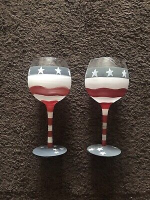 Goblet Red White Blue