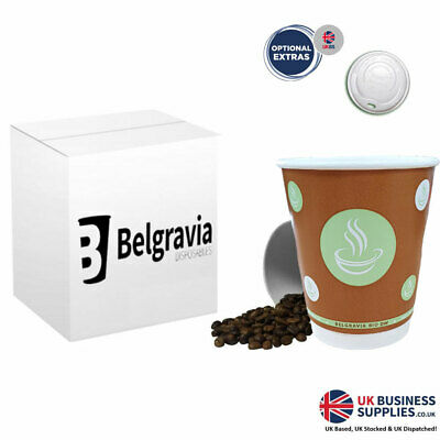 12oz Belgravia Bio Double Walled Cups With or Without Lids - Multi Pack