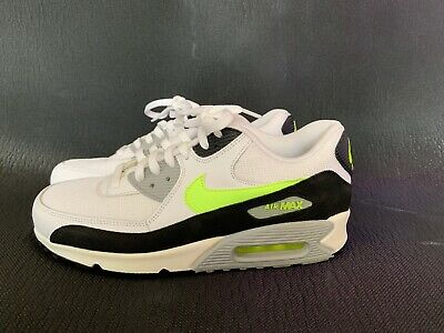 Details about Nike Air Max 90 Essential Mens Trainers Whiteblack & Fluorescent Limeyellow