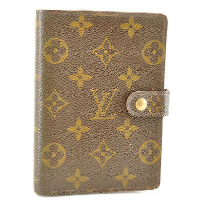 LOUIS VUITTON Monogram Agenda PM Day Planner Cover R20005 LV Auth 8373