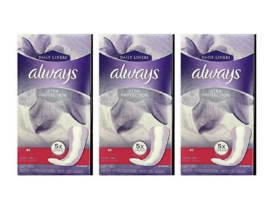 138 PACK Always Xtra Protection Extra Long Daily Liners 138 Count