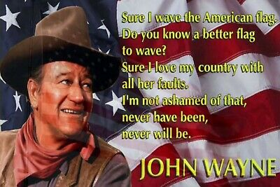John Wayne American Flag Man Cave DECOR SIGN 4x6 Refrigerator Fridge Magnet BAR