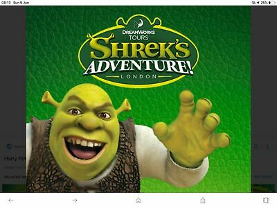 2 x Shrek's Adventure Tickets London > Any* Dates in August 2019 > Post or Email