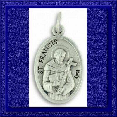 "🕊 Catholic 1"" Medal 🕊 Saint Francis Patron Of  Animals, Zoos, Poor, Peace"