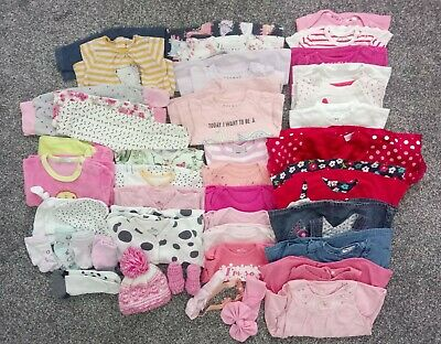 Baby girl bundle 0-3 months, sleepsuits, bodysiuts, dresses, tops, pants