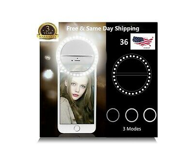 Selfie Portable LED Ring Light Flash For Apple iPhone Sumsung HTC Phone Light
