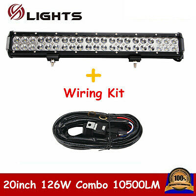 """Wiring Led Light Bar Offroad Driving Lamp Fits Nissan Xterra 20.5/"""" 2x 4/"""" Pods"""