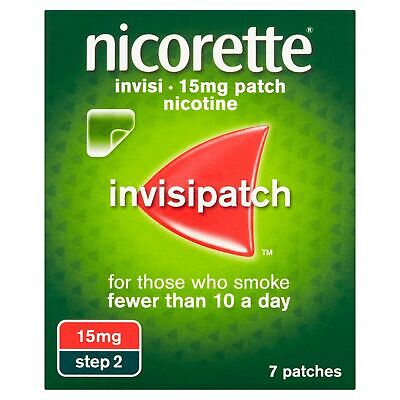 Nicorette InvisiPatch, Step 2, 15 mg, 7 Nicotine Patches (Stop Smoking Aid)