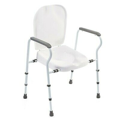 NRS Adjustable Mowbray Toilet Seat Lite Plus with Lid and Armrests Flat Pack ...