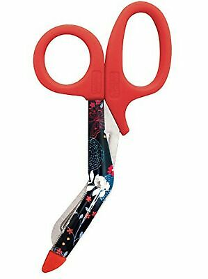 Red Utility Scissors with Flower Design for Nurse Midwife Doctor Paramedic