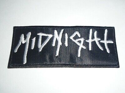 Midnight Black/Speed Metal Embroidered Patch