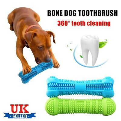 Pet Dog Bone-shape Toothbrush Brushing Chew Toy Stick Teeth Cleaning Oral Care J