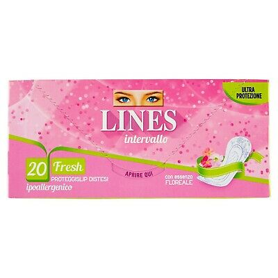 Lines Intervallo Fresh Pack of 20 Panty Liners