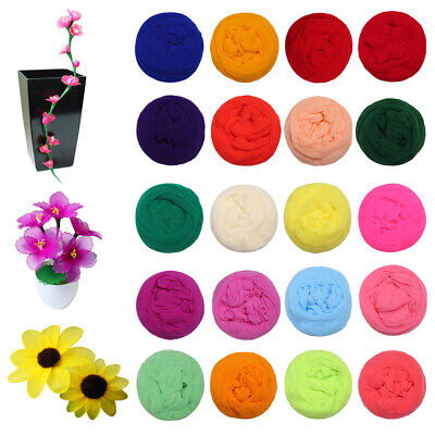 NYLON STOCKING MESH ARTIFICIAL FLOWER MAKING CRAFT- mixed colours all different